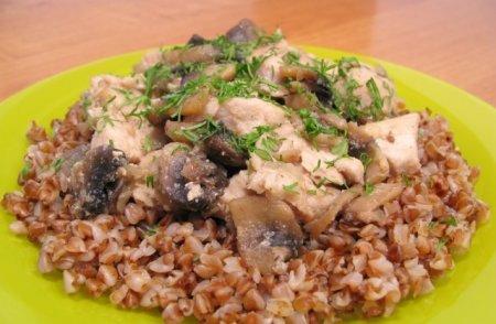 Рецепт Куриное филе, жаренное с грибами
