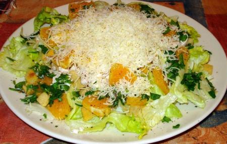 Рецепт Мясной салат с апельсином