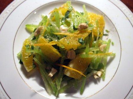 Салат из редьки и апельсина