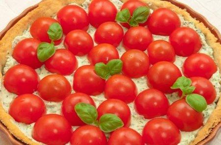 Рецепт Пирог с рикоттой и помидорами