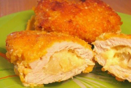 Рецепт «Кармашки» из свинины с ананасами