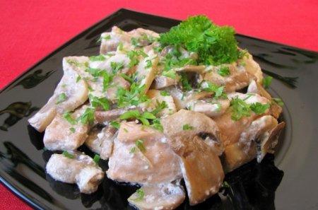 Рецепт Горбуша, жаренная с грибами