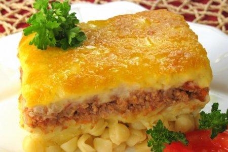 Рецепт Запеканка с фаршем и макаронами