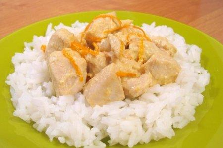 Рецепт Куриное филе под апельсиновым соусом