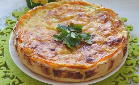 """Рецепт Пирог с кабачком и морковью """"Овощная идиллия"""""""