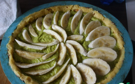 Рецепт Фисташковый тарт с карамелизированным бананом