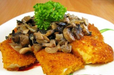 Рецепт Жареная рыба с грибами