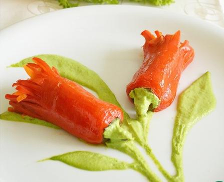 Рецепт Фаршированный перец. Вариант подачи