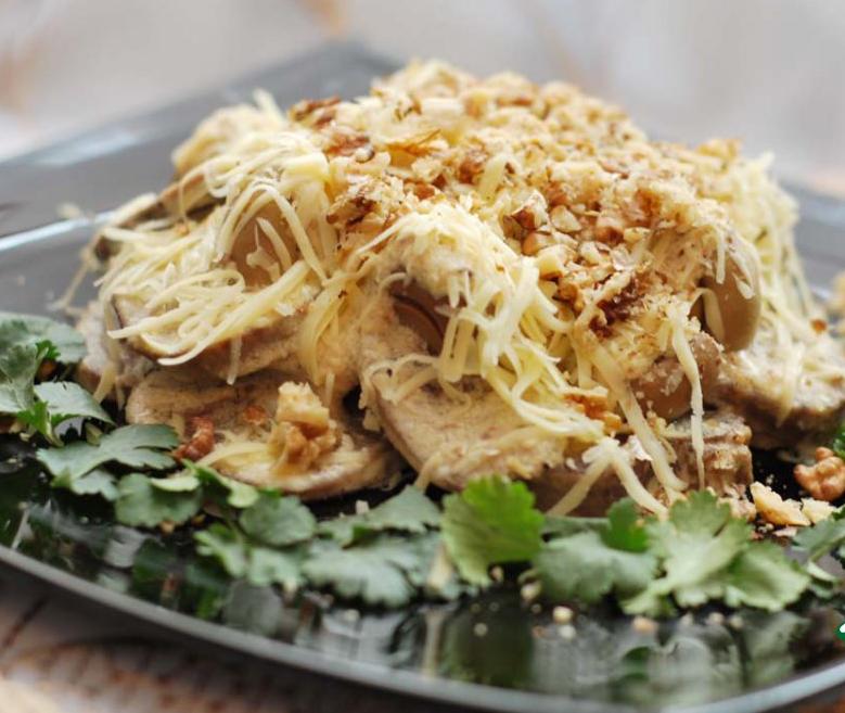 Рецепты теплых салатов из языка с фото