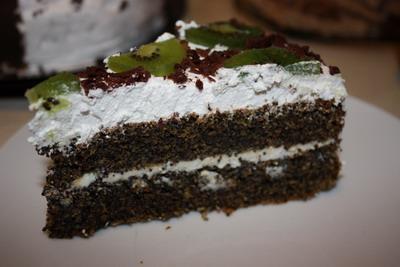Рецепт Маковый торт с киви