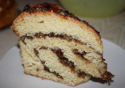 Рецепт Витой пирог с финиками и орехами