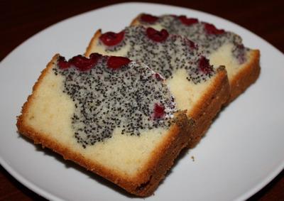 Рецепт Вишнево-маковый кекс