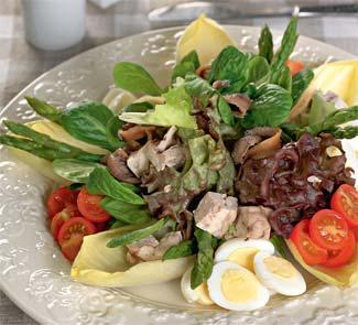 Рецепт Салат из мозгов с анчоусами