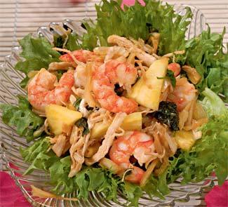 Рецепт Тайский салат с ананасом