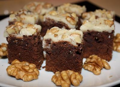 Рецепт Брауни с глазурью и орехами
