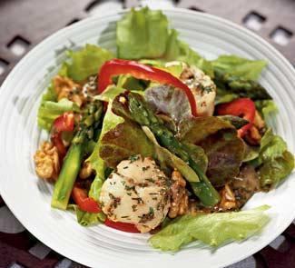 Рецепт Салат с морскими гребешками