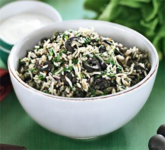 Рецепт Греческий рисовый салат