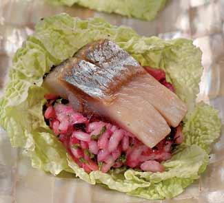 Рецепт Рисовый салат с сельдью