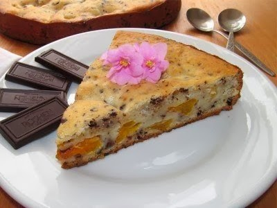Рецепт Пирог с мандаринами и шоколадом