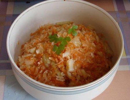 Рецепт Салат из тертого топинамбура с морковью