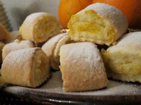 Рецепт Песочное печенье с апельсиновой начинкой