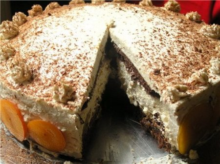 Рецепт Сливово-ореховый торт с коньячным кремом