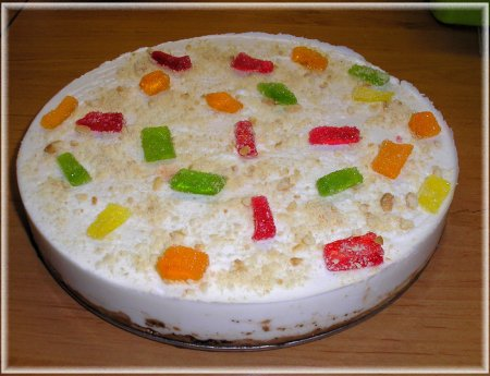 Рецепт Творожно-мармеладный торт-желе