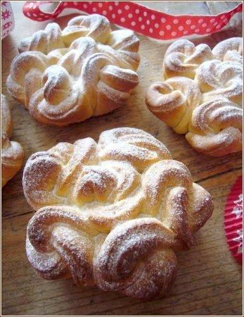 Рецепт Воздушные кружевные булочки