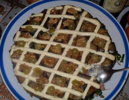 """Рецепт Салат  с баклажанами """"Вечернее Танго"""""""