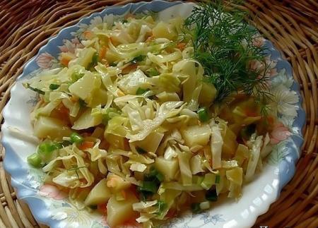 """Рецепт Салат с картофелем и зеленым луком """"Ностальжи"""""""