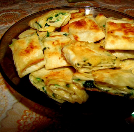 Рецепт Лавашные рулетики с сыром и зеленью