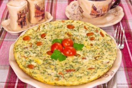 Рецепт Омлет с помидорами и картофелем
