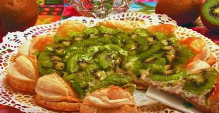 Рецепт Слоеный торт «Киви»
