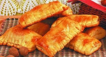 Рецепт Пирожки - Ореховые гребешки