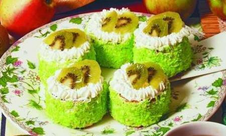 Рецепт Пирожное «Киви»