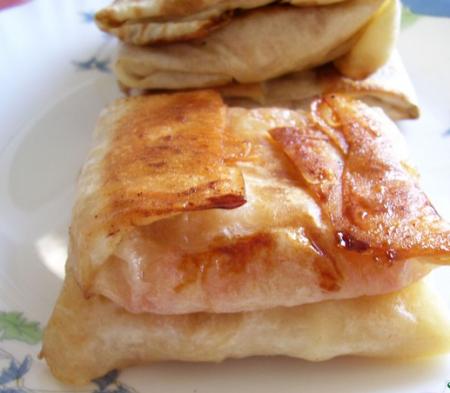 Рецепт Пирожки из лаваша с яблоками