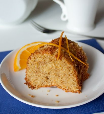 Рецепт Апельсиновый пирог на кукурузной муке