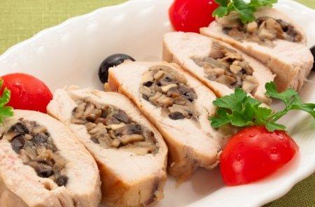 Рецепт Куриное филе, фаршированное грибами