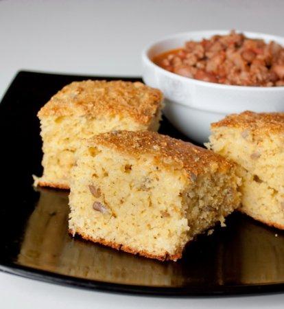 Рецепт Кукурузный хлеб с семечками