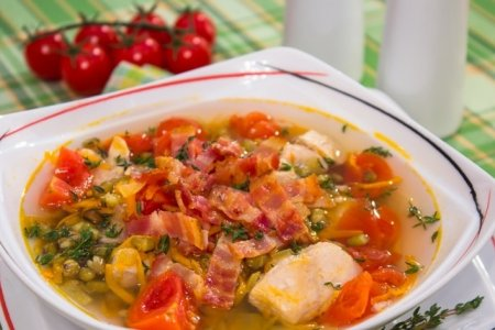 Рецепт Суп с машем и беконом