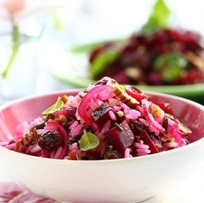 Рецепт Постный салат из свеклы и риса