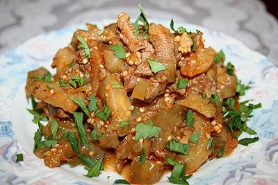 Рецепт Баклажановый салат с мясом