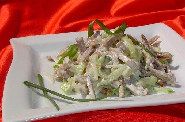 Салат из языка и грецких орехов рецепт 137