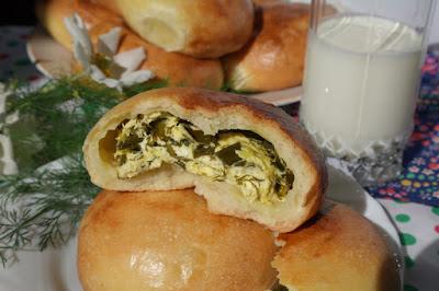 Рецепт Булочки с творогом и зеленым луком
