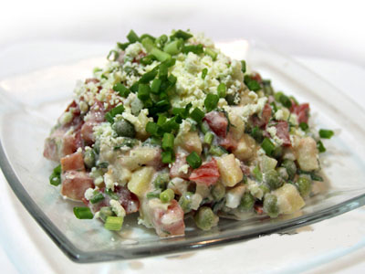 Салат овощной по-французски