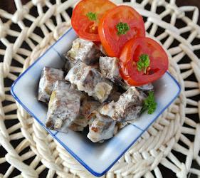 Рецепт Закуска из жареных баклажанов