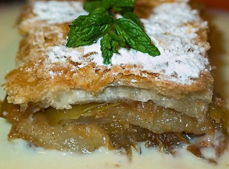 Рецепт Штрудель с яблоками из слоеного теста