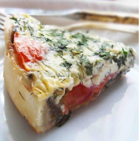 Рецепт Открытый пирог с помидорами и баклажанами
