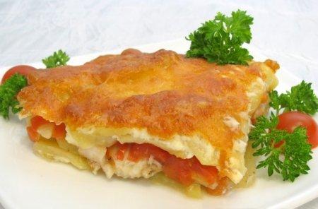 Рецепт Рыба с картофелем, запеченные под майонезом