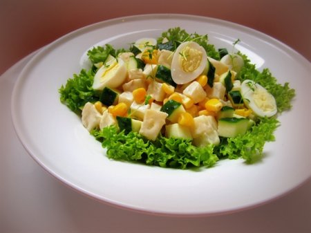 Рецепт Салат с сельдереем и сладкой кукурузой